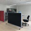 DecoDemp-Classic Akustik skærmvæg med Hjul .. fiji