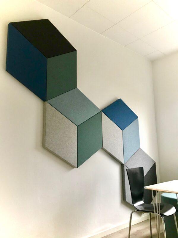 Decodemp SoftQR væg monteret Akustik i klasse A.Støjdæmpning til væg montering.