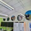 DecoDemp-CipO runde akustik paneler Som akustik billeder med udskifteligt motiv og alu ramme. Støjdæmpning i klasse A..–