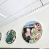 DecoDemp-CipO runde akustik paneler Som akustik billeder med udskifteligt motiv og alu ramme. Støjdæmpning i klasse A..-