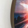 DecoDemp-CipO Akustik billeder med udskifteligt motiv og Bronze ramme. Runde akustik billeder med udskifteligt motiv. Rund støjdæmpning med udskifteligt motiv. Akustik klasse A